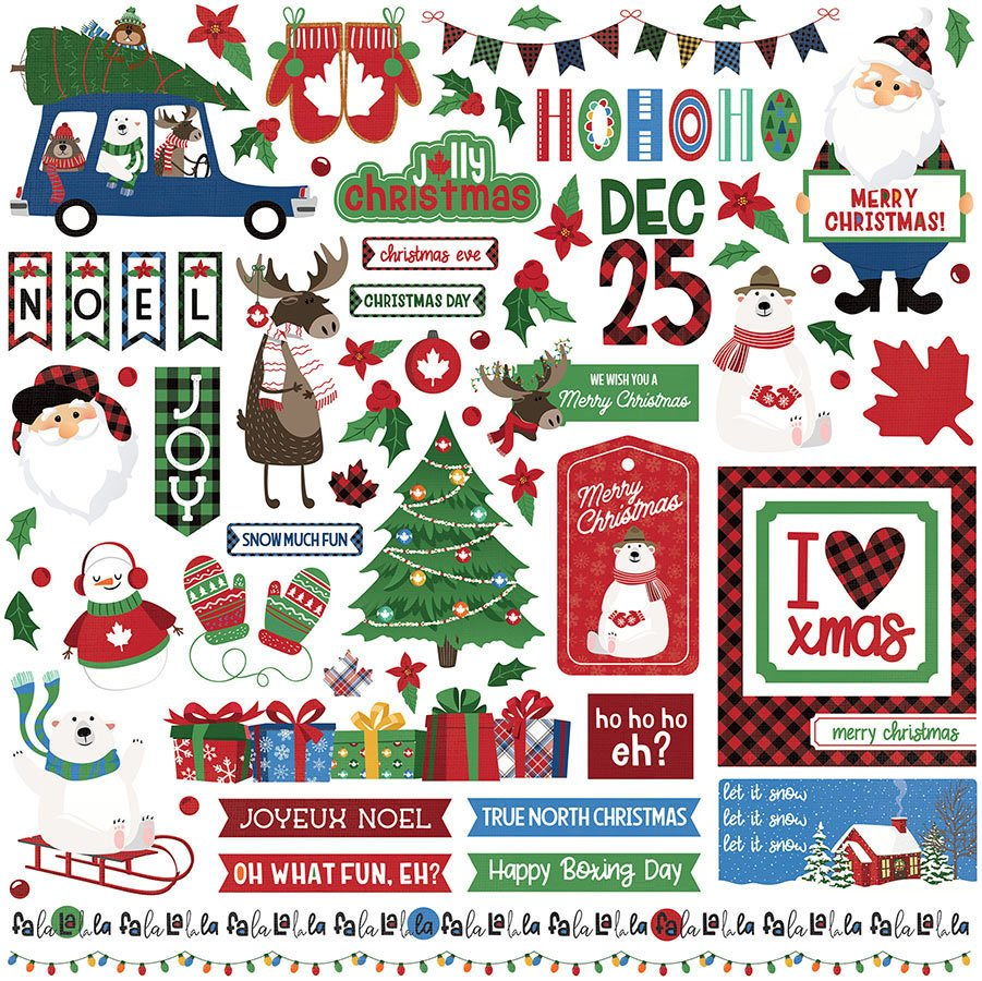 PhotoPlay - O Canada Christmas -  Element Stickers