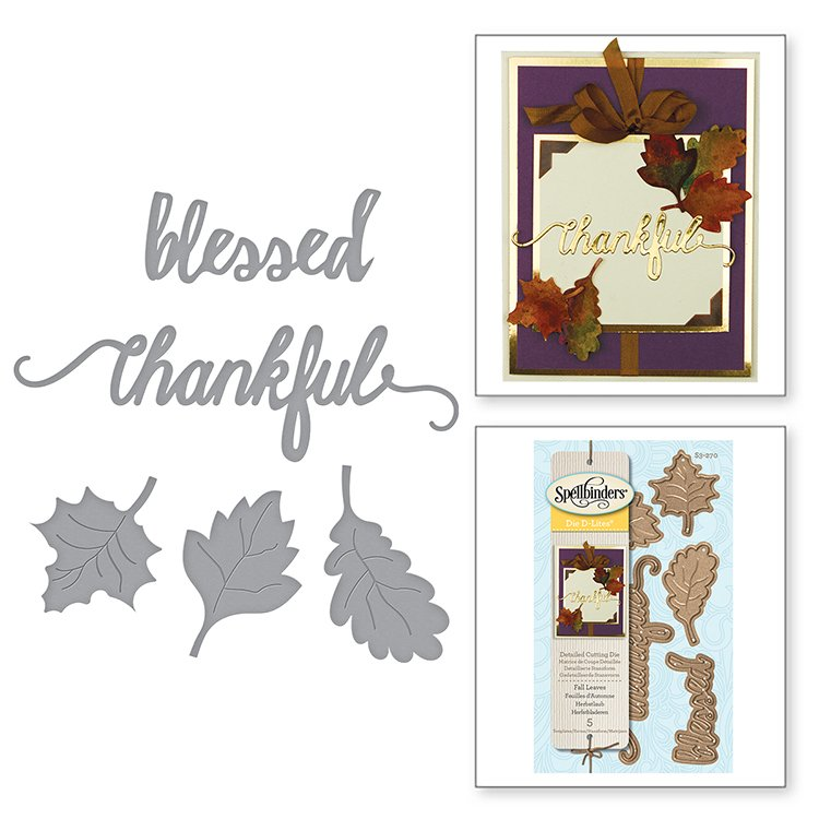 Spellbinders - Die D-Lites - Fall Leaves