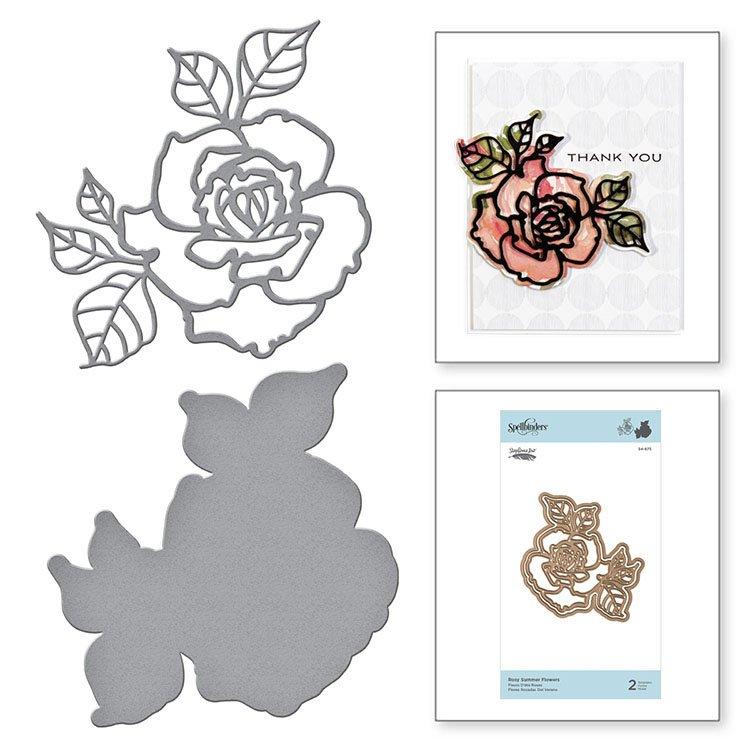 ^Spellbinders - Etched Dies - Rosy Summer Flowers