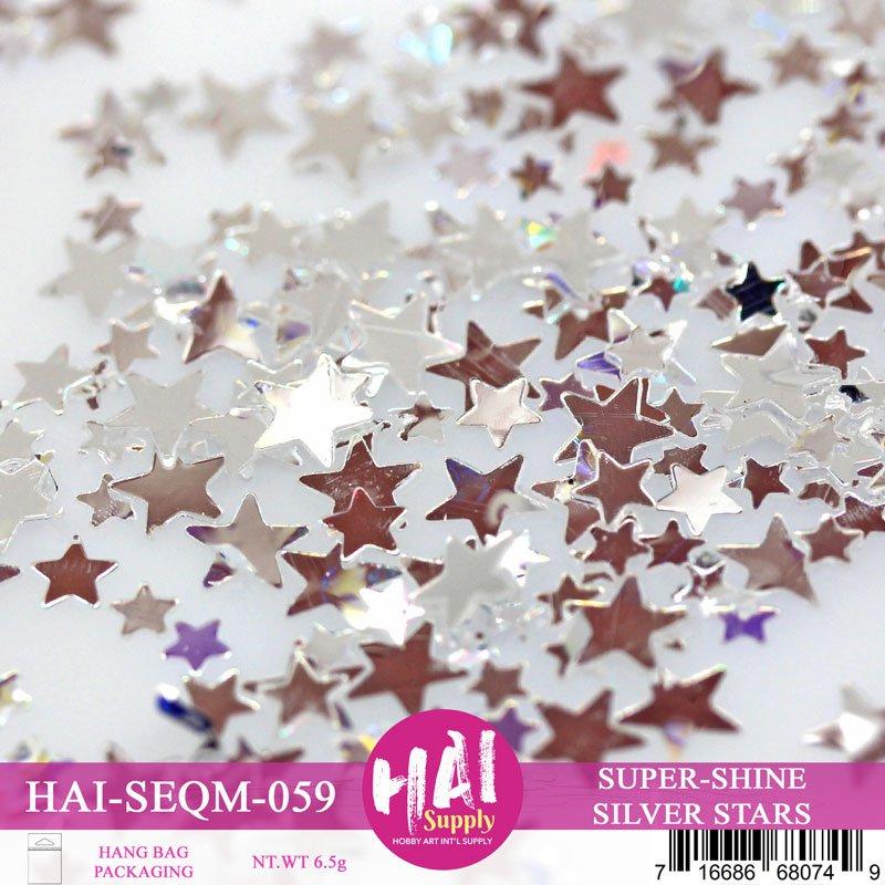 HAI Sequins - Super Shine Silver Stars