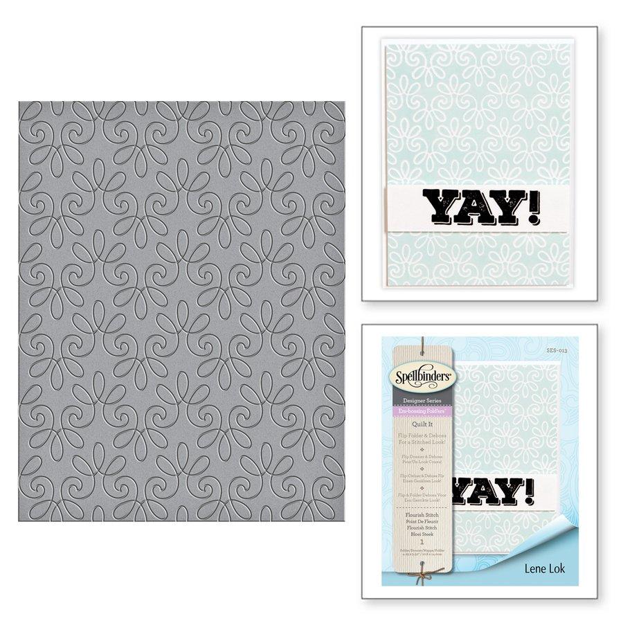 Spellbinders - Flourish Stitch Embossing Folder