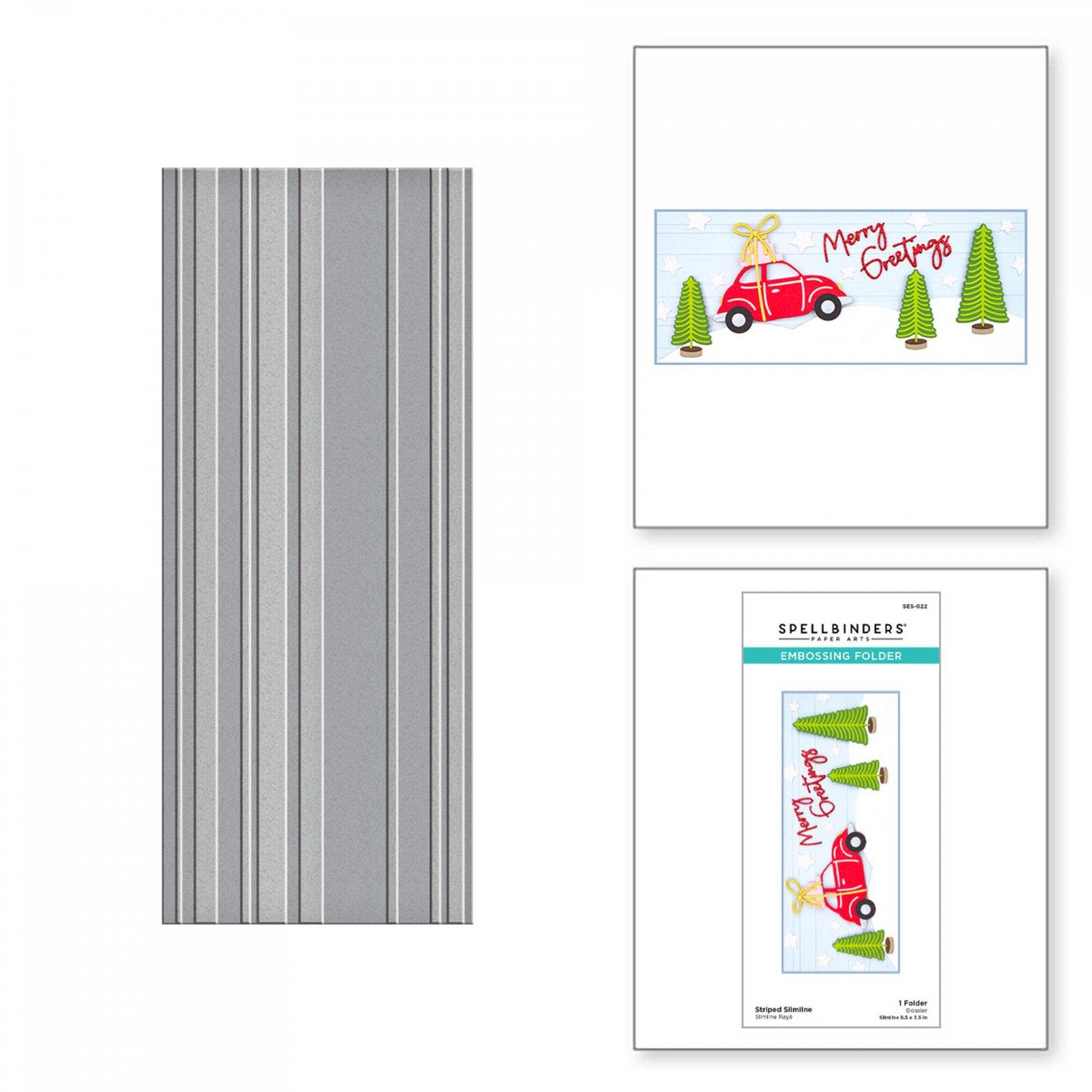Spellbinders - Embossing Folder - Striped Slimline