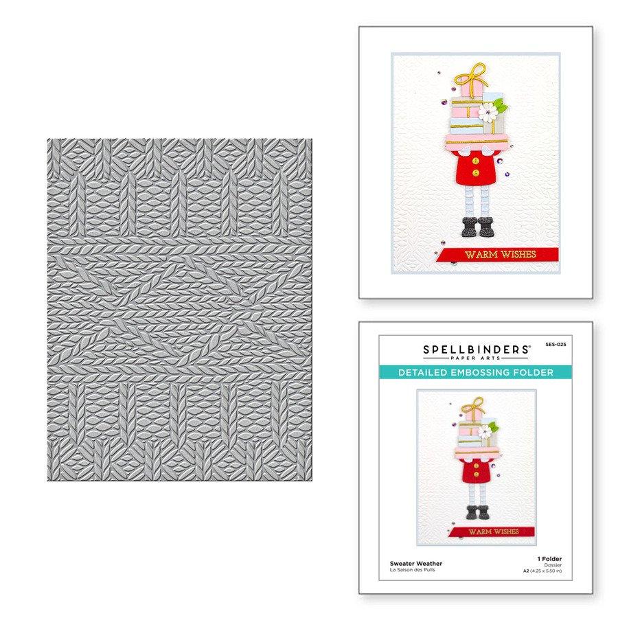 Spellbinders - Embossing Folder - Sweater Weather