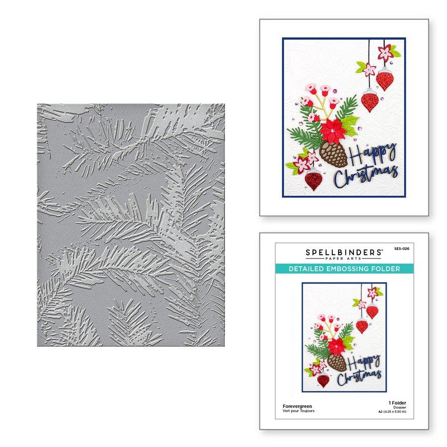 Spellbinders - Embossing Folder - Forevergreen