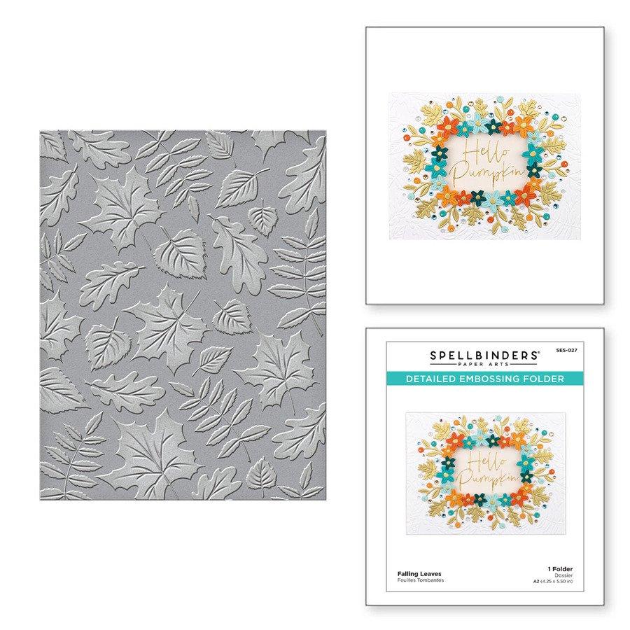 Spellbinders - Embossing Folder - Falling Leaves