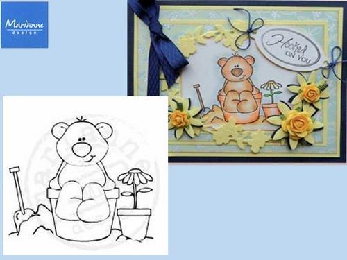 Marianne Designs - Stampfairy Cling Stamp - Beach Bear