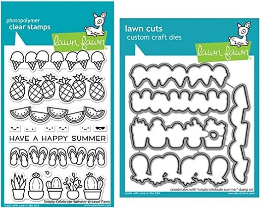 Lawn Fawn - Simply Celebrate Summer Stamp and Die Combo