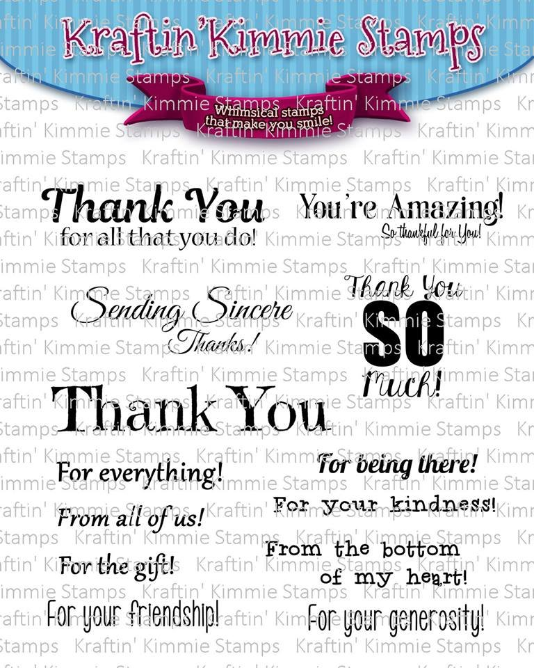 ^Kraftin' Kimmie - Stamps - Sincere Thanks