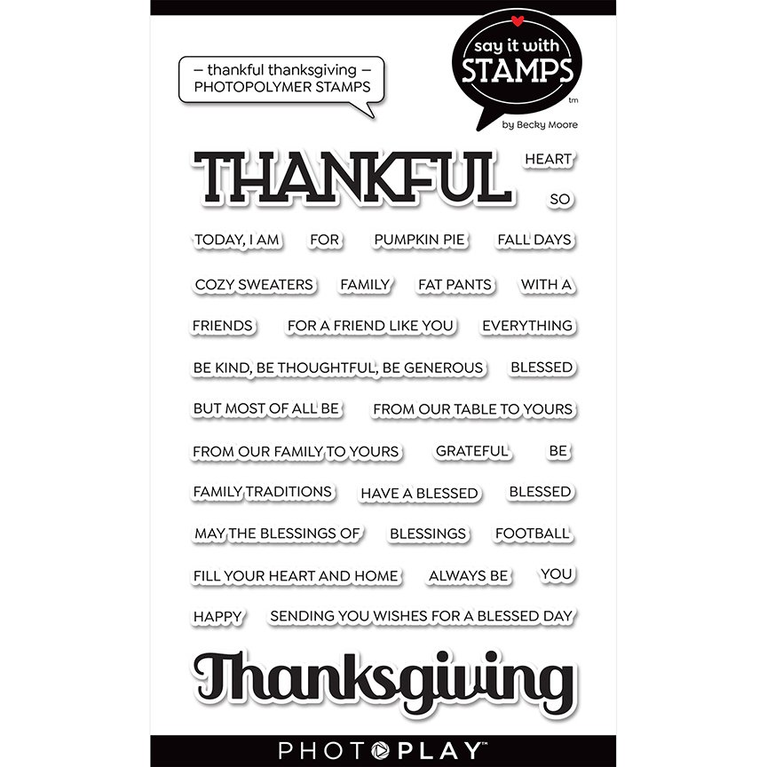 PhotoPlay Say It With Stamps - Thankful Thanksgiving