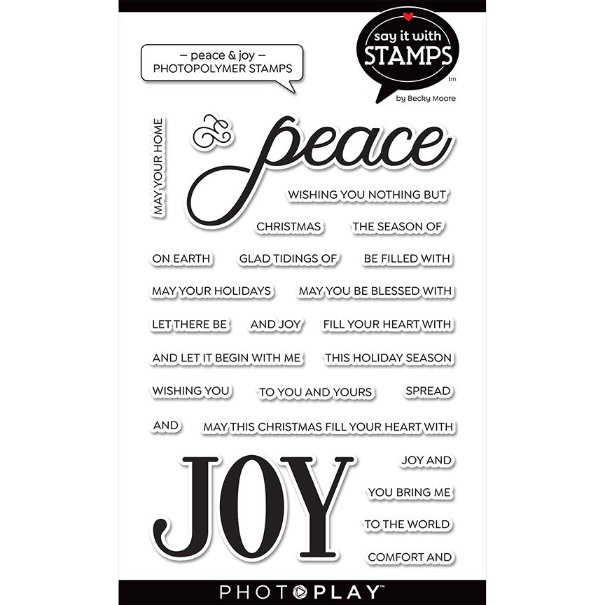 PhotoPlay Say It With Stamps - Peace & Joy