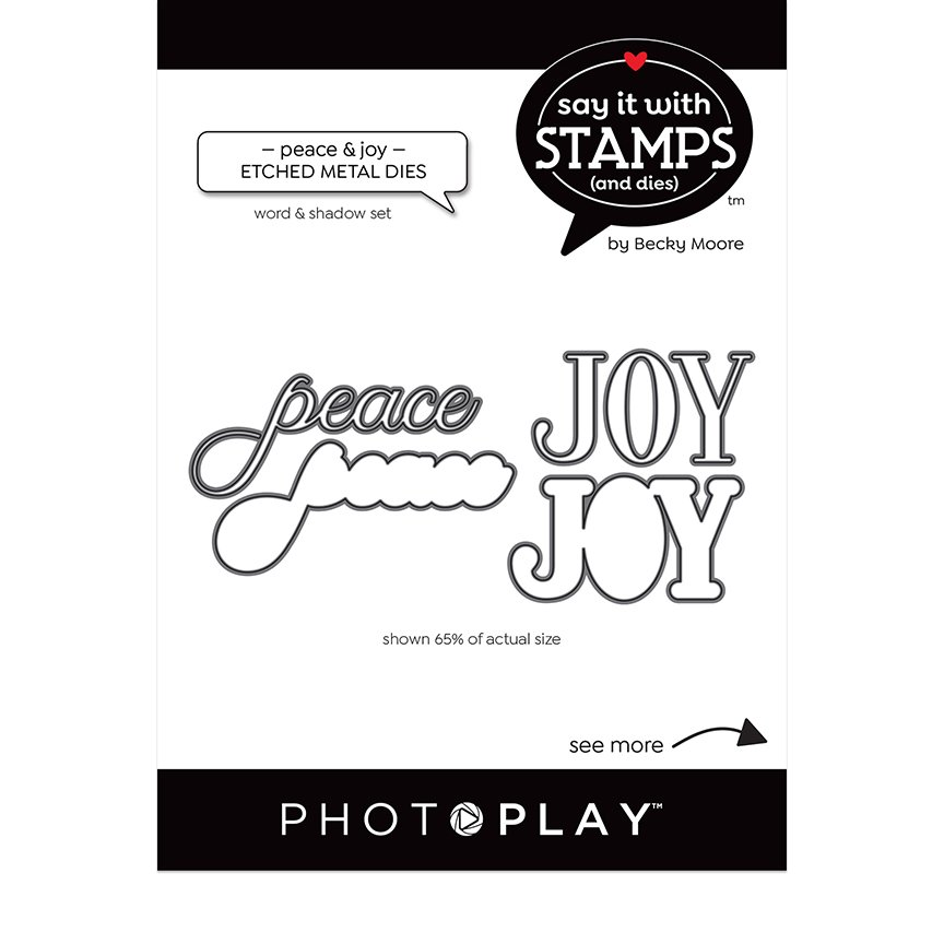 PhotoPlay Say It With Stamps Dies - Peace & Joy