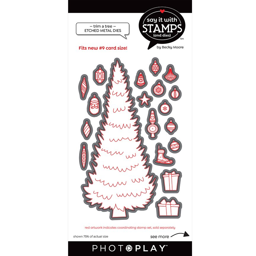 PhotoPlay Say It With Stamps Dies - #9 Trim A Tree