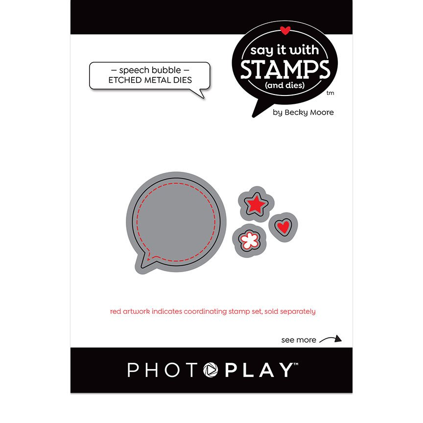 PhotoPlay Say It With Stamps - Dies - Speech Bubble