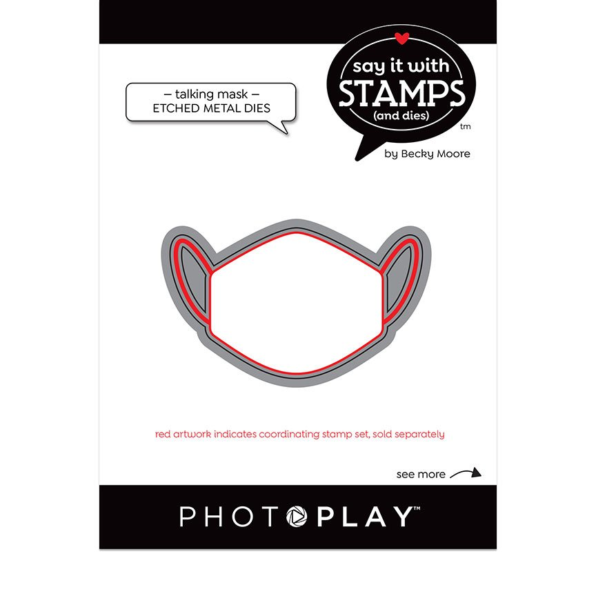 PhotoPlay Say It With Stamps - Dies - Talking Mask