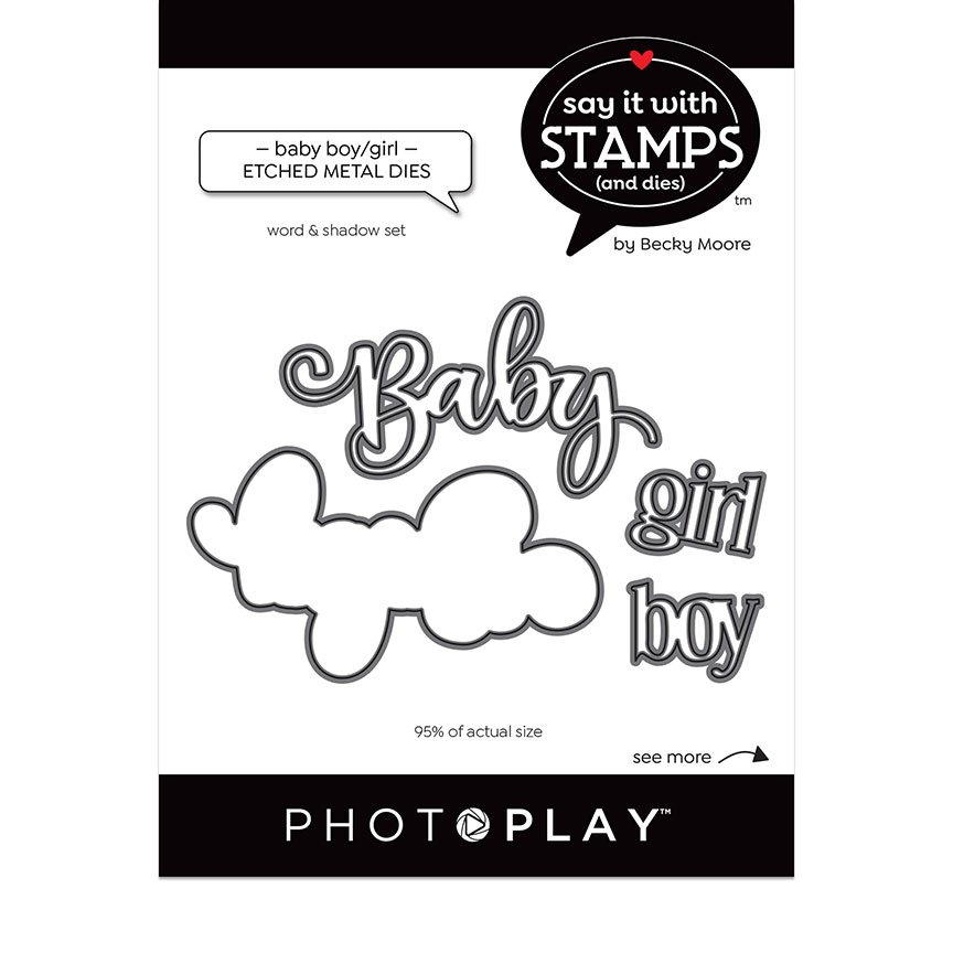 PhotoPlay Say It With Stamps - Dies - Baby Boy/Girl