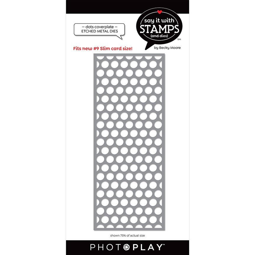 PhotoPlay Say It With Stamps - Dies - #9 Dots Coverplate