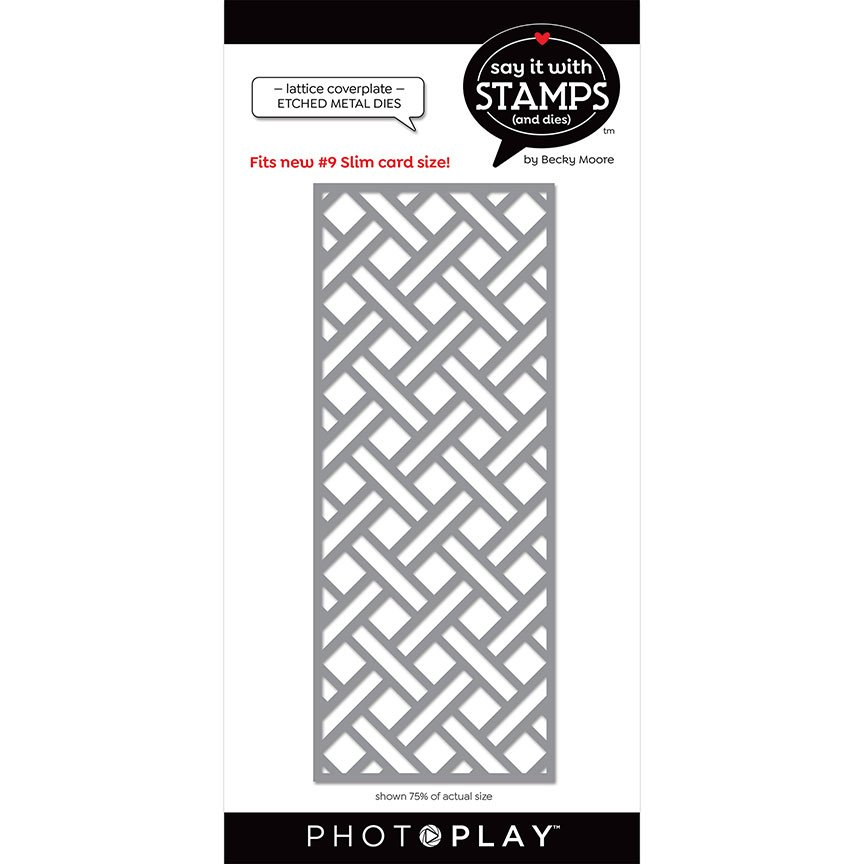 PhotoPlay Say It With Stamps - Dies - #9 Lattice Coverplate