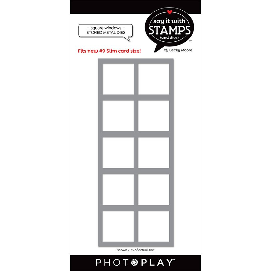 PhotoPlay Say It With Stamps - Dies - #9 Square Windows