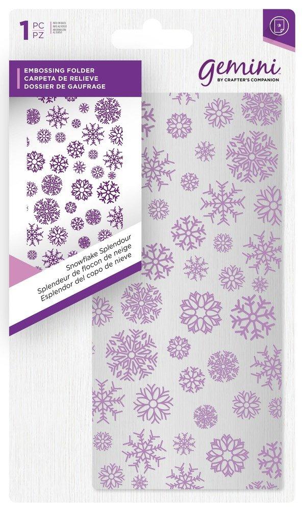 Gemini Embossing Folder - Snowflake Splendour
