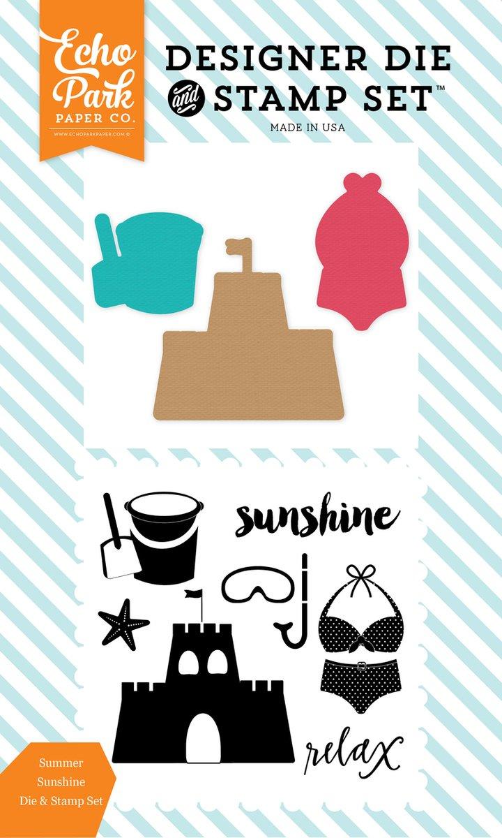 ^Echo Park - Summer Sunshine Die & Stamp Set