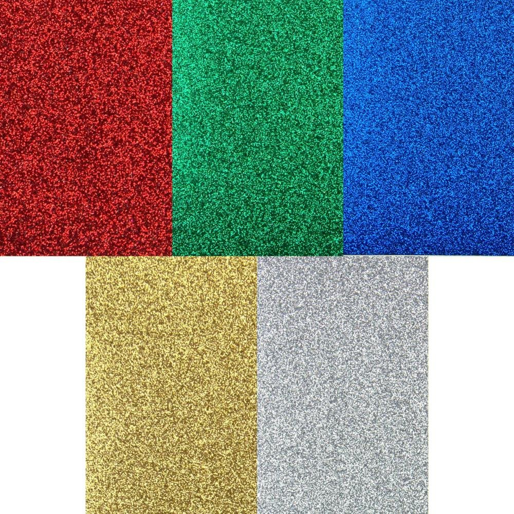 Non-Shed Glitter Cardstock - Winter Assortment, 6x6