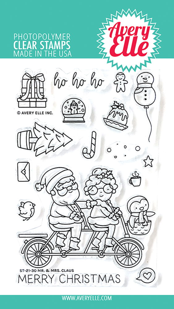 Avery Elle - Clear Stamps - Mr & Mrs Claus