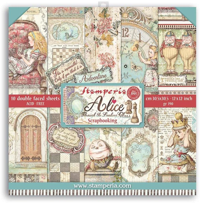 Stamperia - 12x12 Paper Pack - Alice Through The Looking Glass
