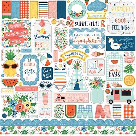 ^Echo Park - Summertime - 12x12 Element Sticker Sheet