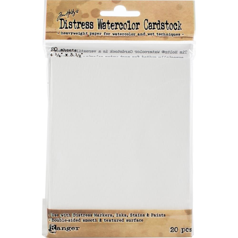 Tim Holtz - Distress Watercolor Cardstock, 4.25 x 5.5, 20 Sheets/Pack