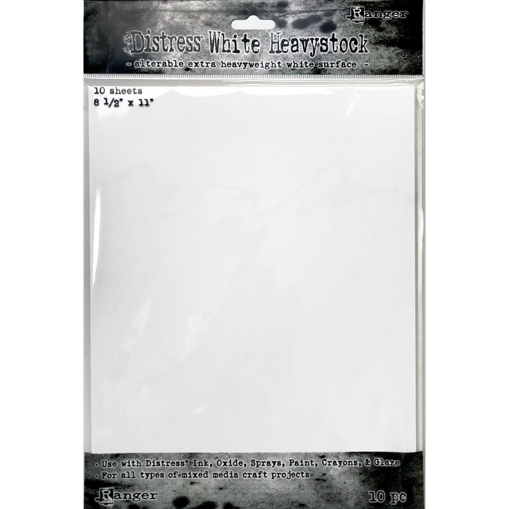 Tim Holtz - Distress White Heavystock, 8-1/2 x 11,  10 Sheets/Pack