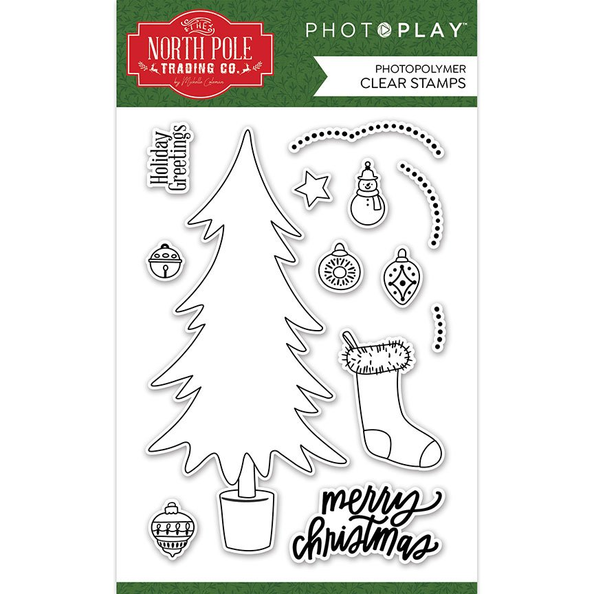 PhotoPlay - North Pole Trading Co. - Trim a Tree Stamp Set