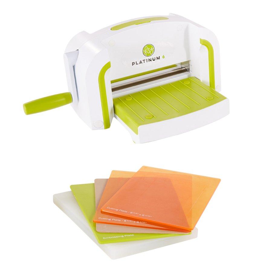 Platinum 6 Die Cutting Machine, White/Green (FSJ)