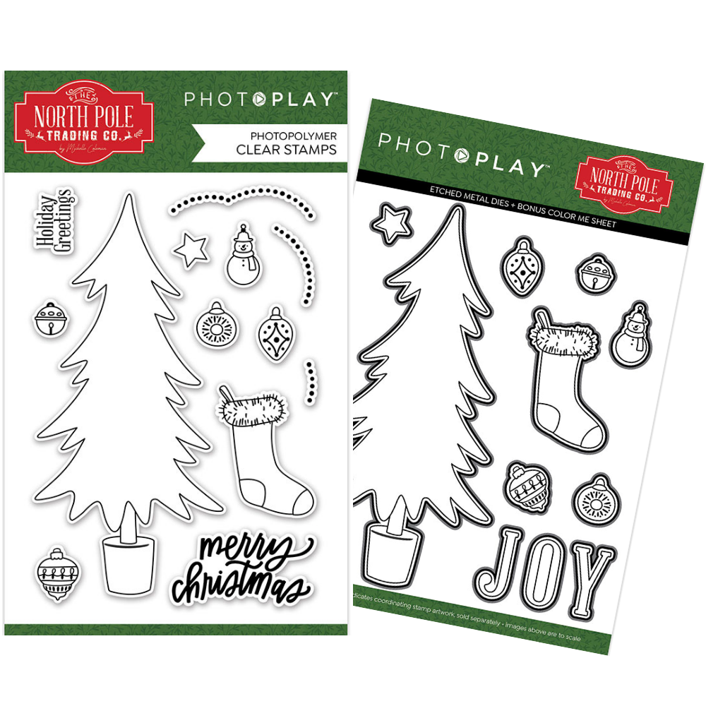 PhotoPlay - North Pole Trading Co. - Trim a Tree - Stamp and Die BUNDLE