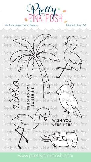 Pretty Pink Posh - Topical Birds Stamp and Die Combo