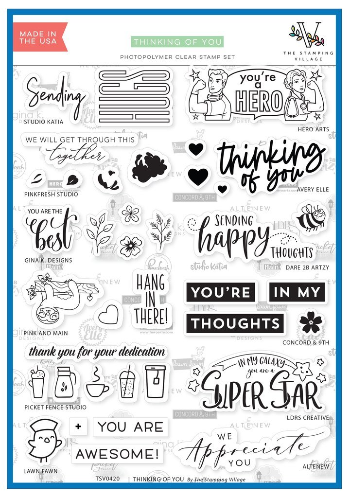Stamping Village Clear Stamps - Thinking of You