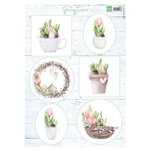 Marianne Designs A4 Cutting Sheet - Springtime