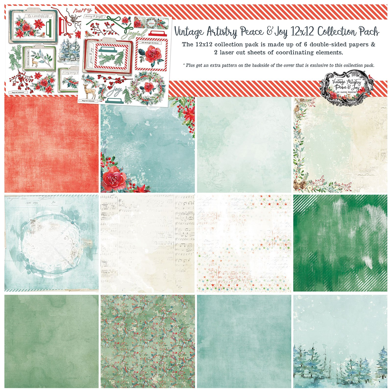 49 And Market - Vintage Artistry - Peace & Joy - 12x12 Collection Pack