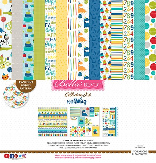 Bella Blvd - Wish Big Boy - 12x12 Collection Kit