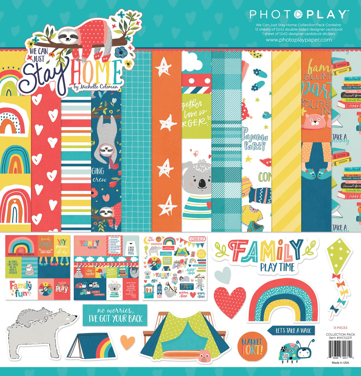 Photoplay We Can Just Stay Home - 12x12 Collection Pack
