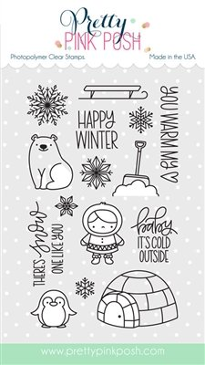 Pretty Pink Posh - Winter Wonderland Stamp and Die Combo
