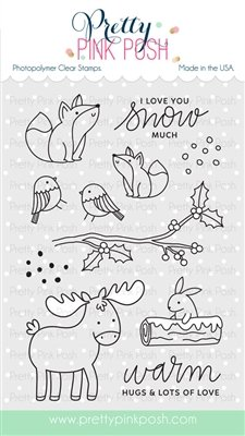 Pretty Pink Posh - Winter Woodland Stamp and Die Combo