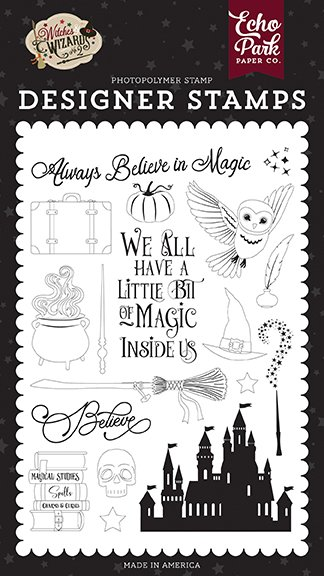 Echo Park - Stamps - Witches & Wizards No. 2 - Believe In Magic