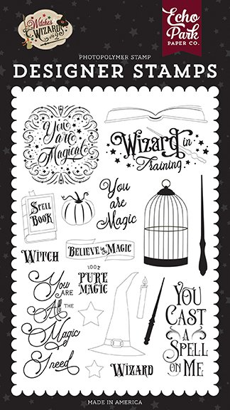 Echo Park - Stamps - Witches & Wizards No. 2 - You Are Magic