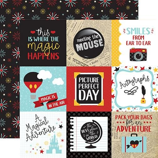 Echo Park Wish Upon A Star - 4x4 Journaling Cards