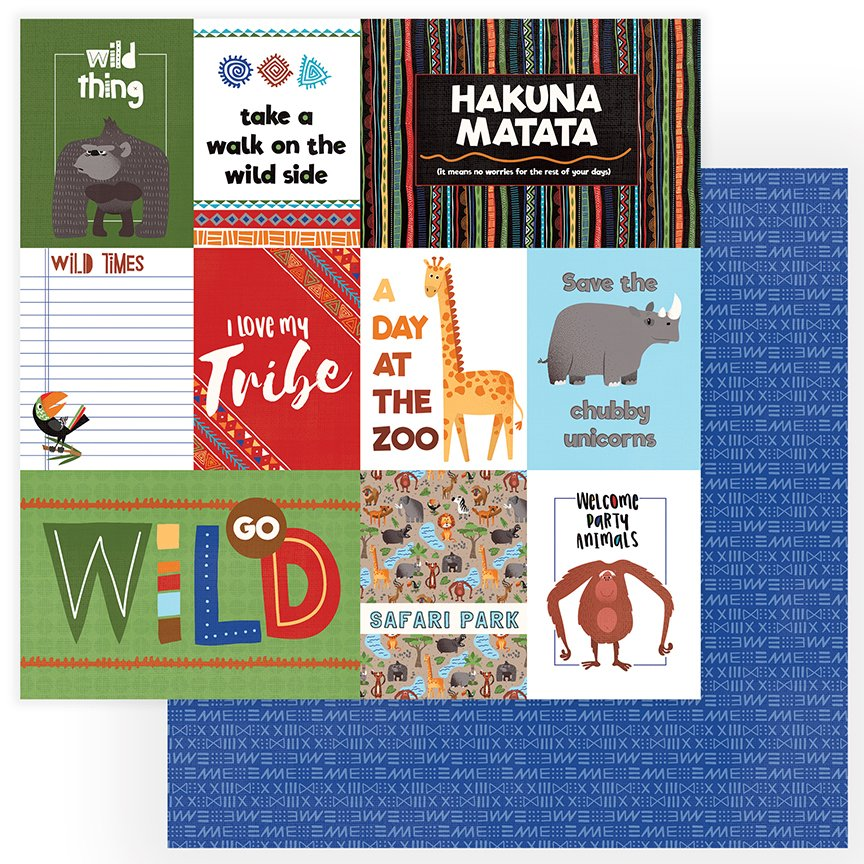 ^Photoplay Walk on the Wild Side - Wild Thing - 12x12 Double-Sided Paper