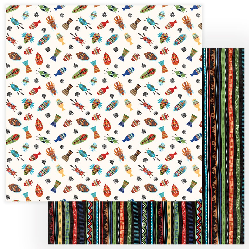 ^Photoplay Walk on the Wild Side - In The Jungle - 12x12 Double-Sided Paper