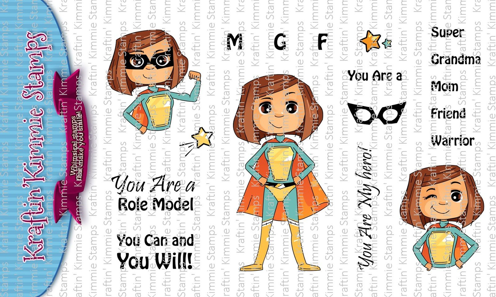 ^Kraftin'  Kimmie - Stamps - You Are Super