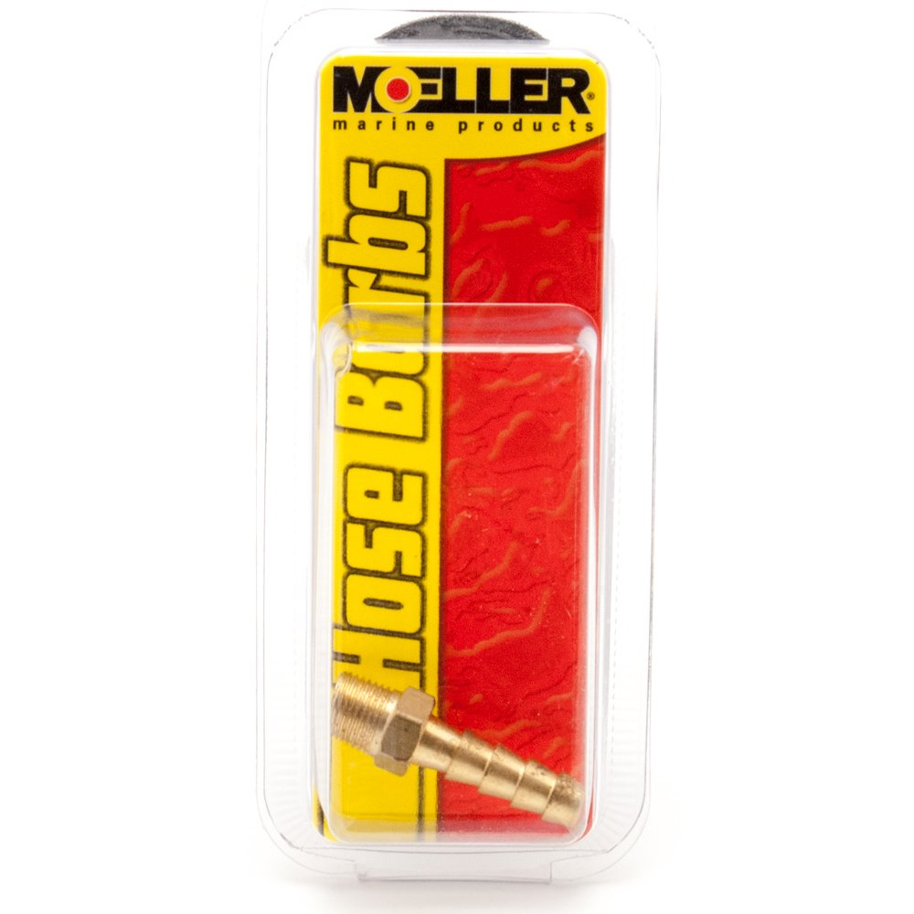 Moeller Fuel Connector Brass Barb Male Thread