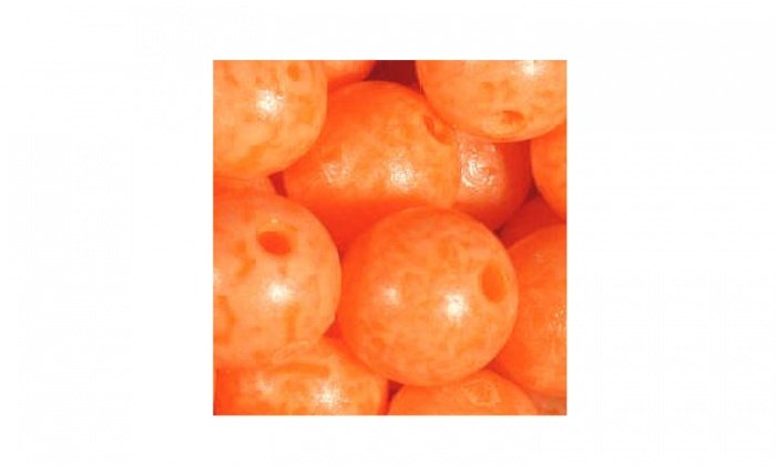 Mottledbeads 10mm Sun Orange 15pk