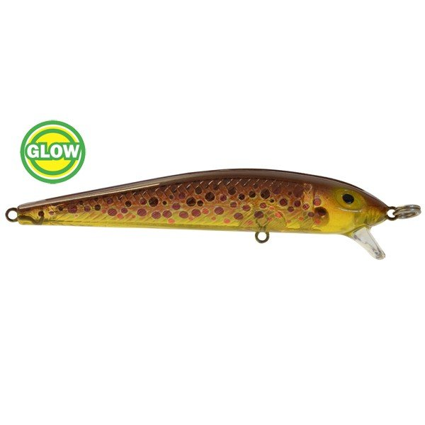 BayRat Lures S3 Shallow Diver Glow Brown Trout